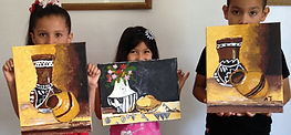 Complimentary art class for children in McAlle, Texas