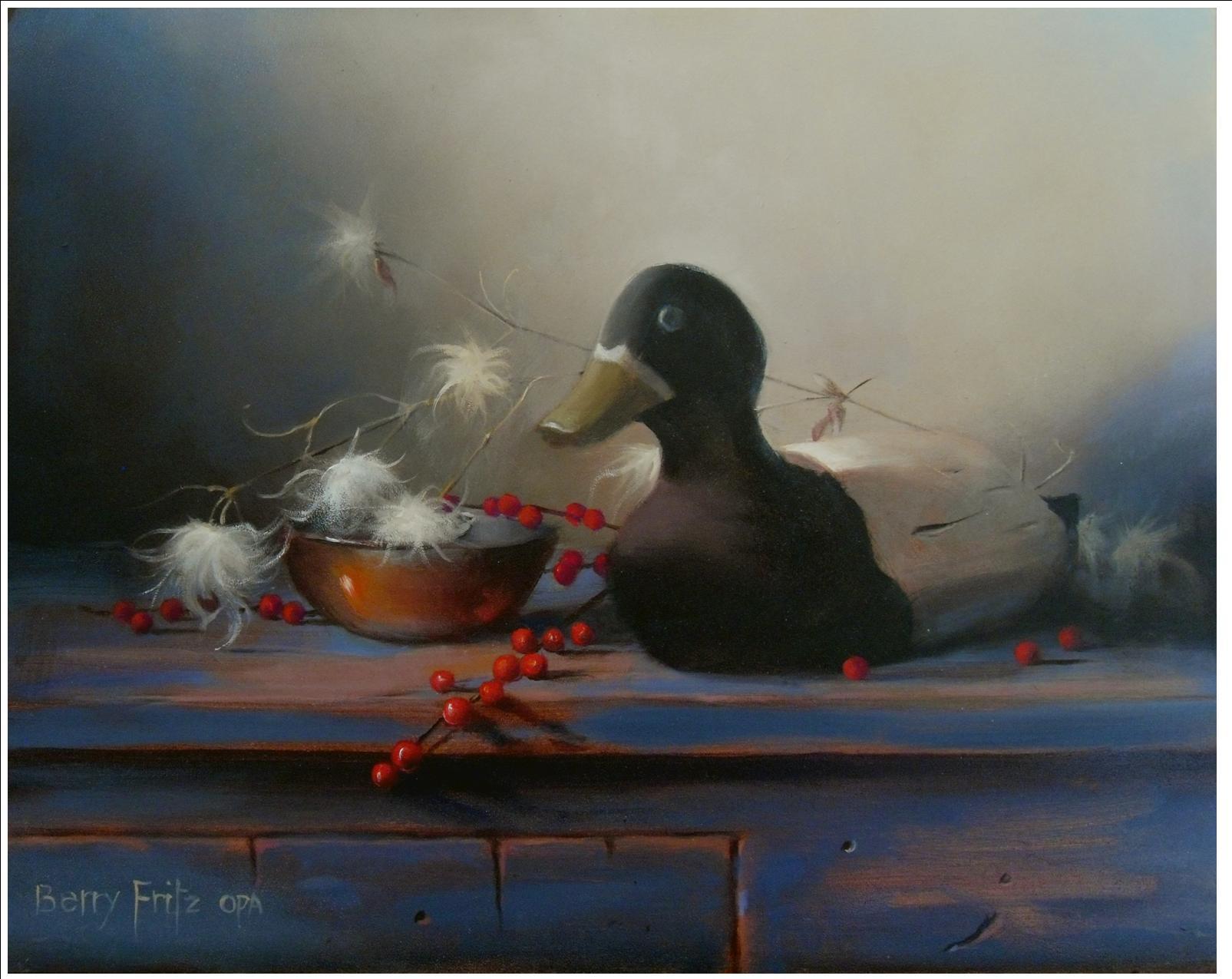Decoy Duck with Traveler's Joy