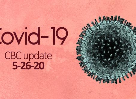 Covid-19: CBC Update 5/26/20