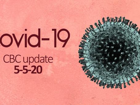 Covid-19: CBC Update 5/5/20