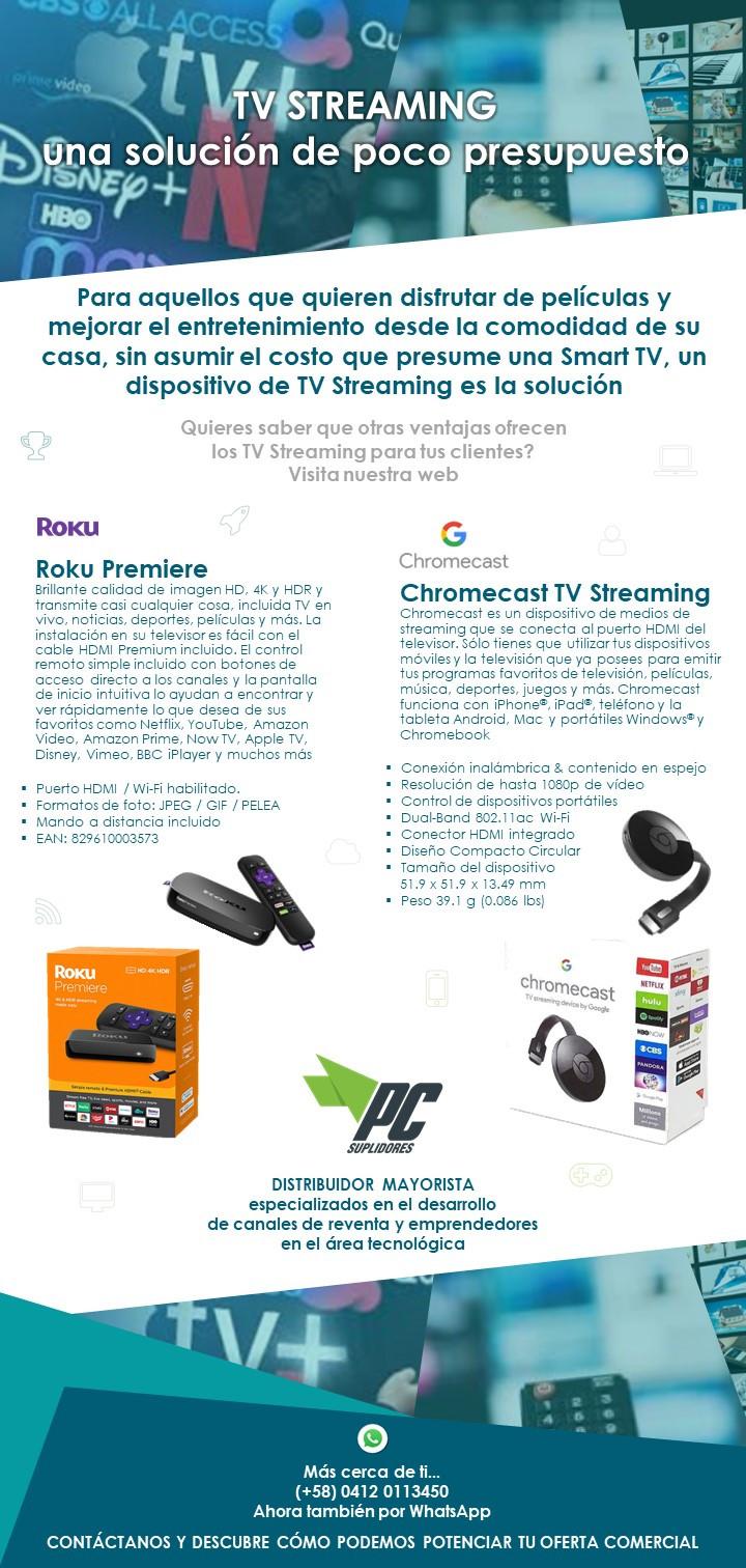 Chromecast TV Streaming - Roku Premiere, la mejor opción para elevar el entretenimiento