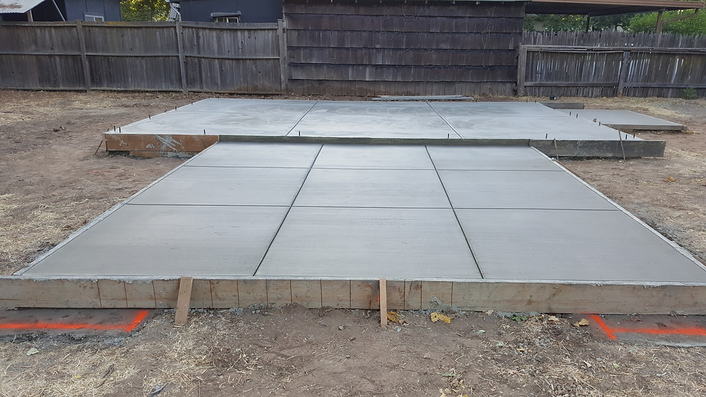 Poured Concrete with Joints and J-Bolts