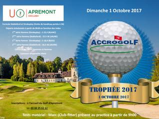 Trophée ACCROGOLF le 1 octobre 2017