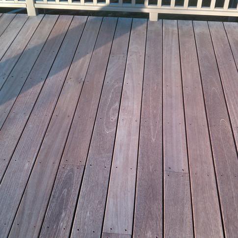 Hardwood Deck Before