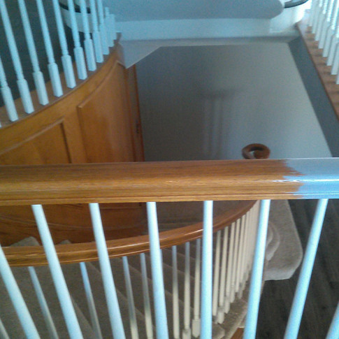Stairwell Wall and Railing Before