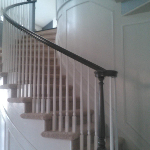 Stairwell Wall and Railing After
