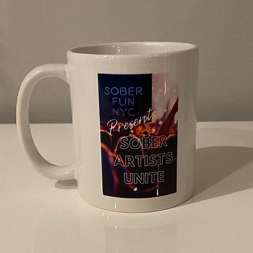 "Ceramic Mug ""Sober Artists Unite"""
