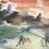 Thumbnail: Watercolor landscape with horses