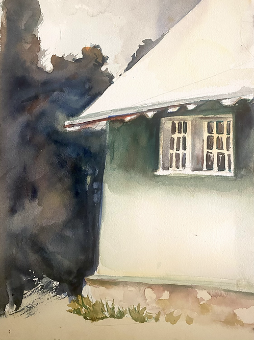 Detailed watercolor house