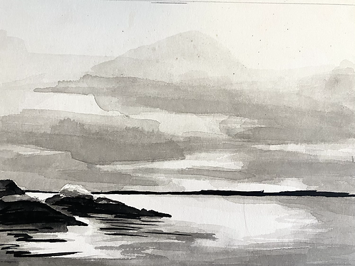 India ink landscape