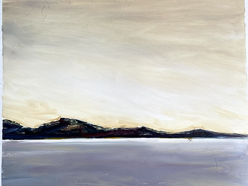 oil landscape on yupo paper