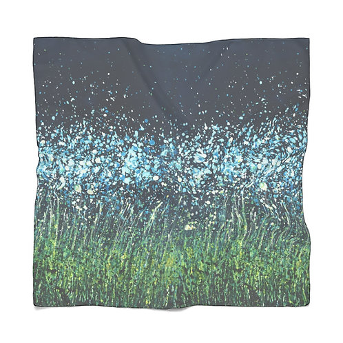 Night Flowers Poly Scarf