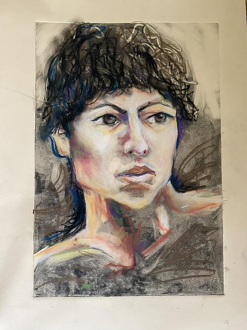 Print with Pastel Portrait
