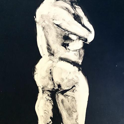 print of male figure