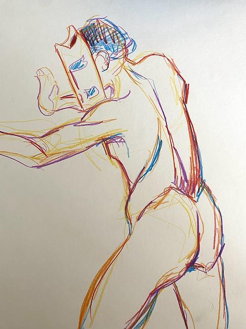 colorful figure sketch