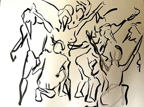 India Ink Figure Studies