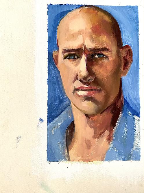 Kelly slater portrait painting