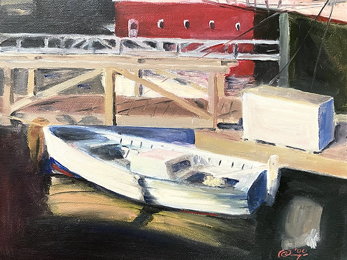 Motorboat Painting