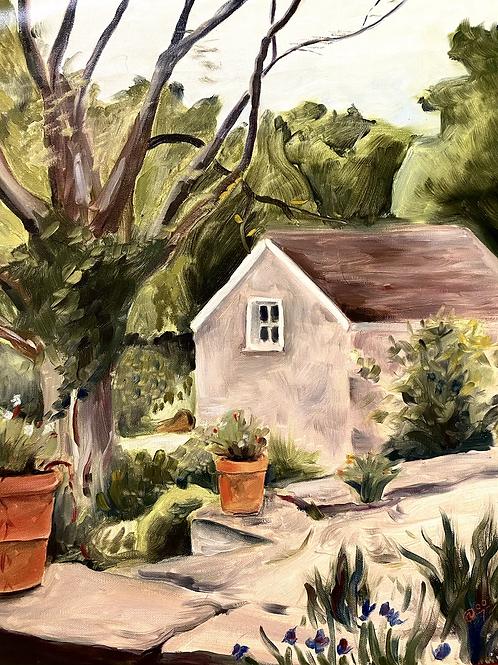 Stone barn painting
