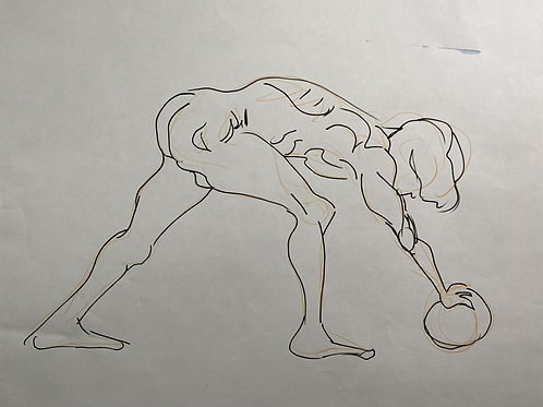 Male figure with ball