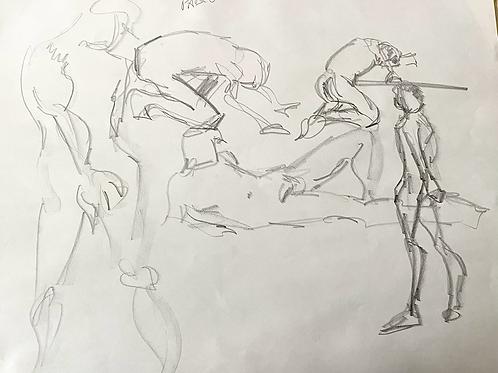 Figure study of Pablo