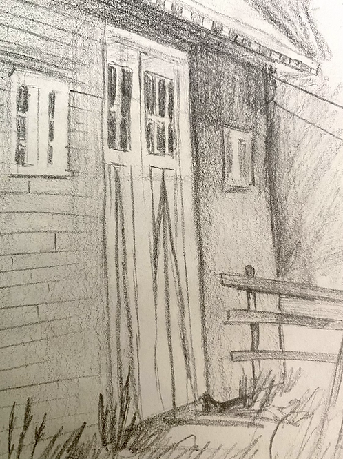 Barn and horse sketches