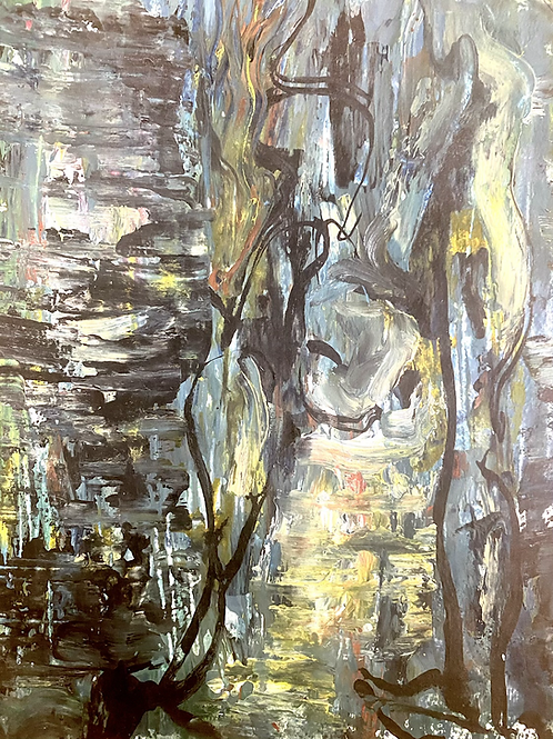Abstract with hidden figure