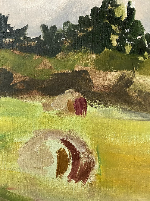 Hayfield painting