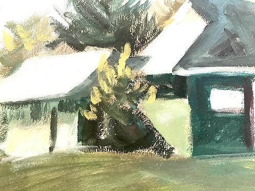 House & landscape painting