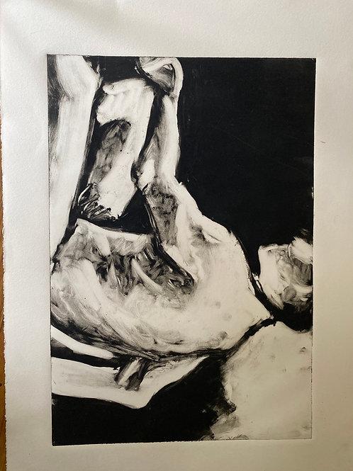 Print of Reclining Male Figure