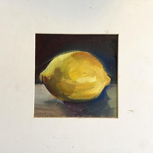 framed oil painting of lemon