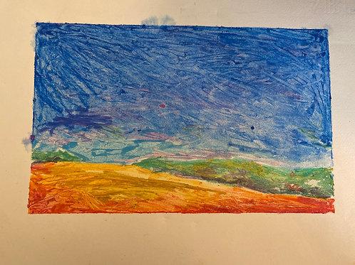 Print of Rainbow Landscape