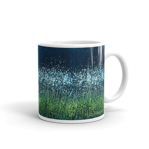Night Flowers glossy mug