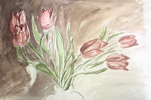Watercolor rose bundle