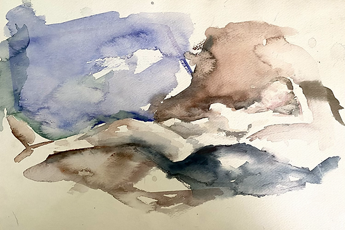 Watercolor female figure
