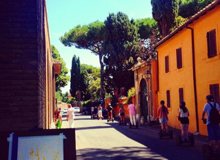 First day painting in Rome