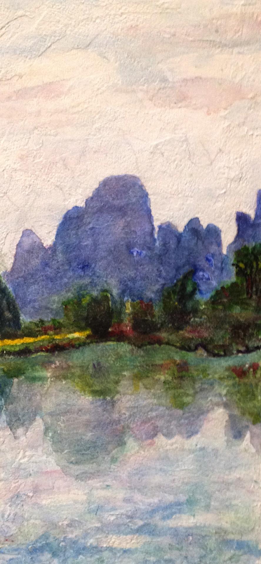 China Landscape - Watercolor