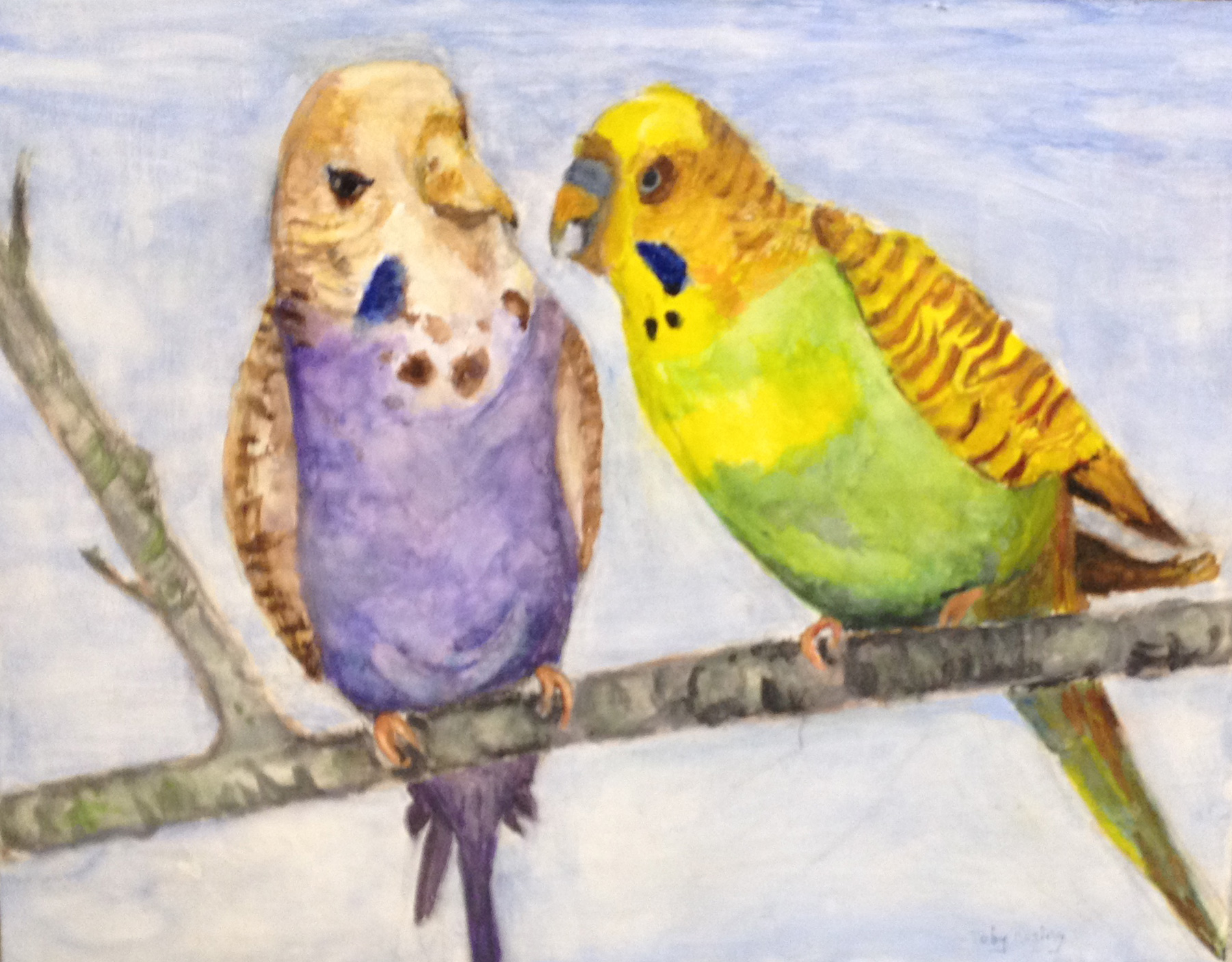 Two Parrots - Watercolor