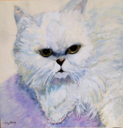 Nathan's Cat - Watercolor