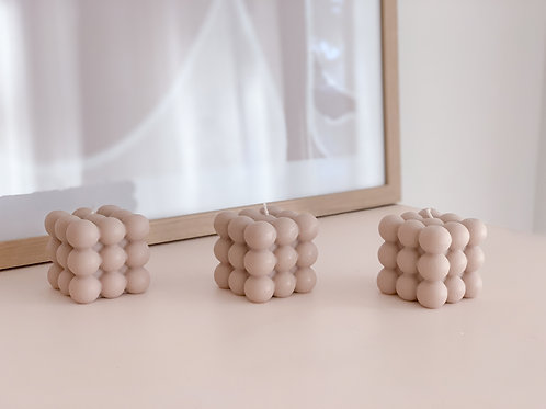 nude bubble candle