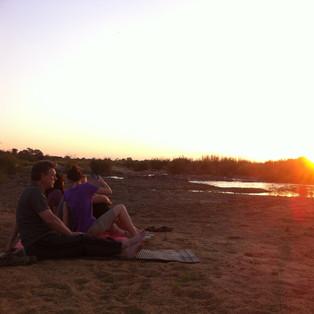 Relaxing sunset.