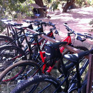 Bikes in camp.