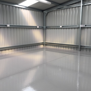 Industrial Epoxy Shed Floor
