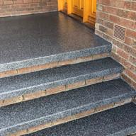 Epoxy Flake Stairs