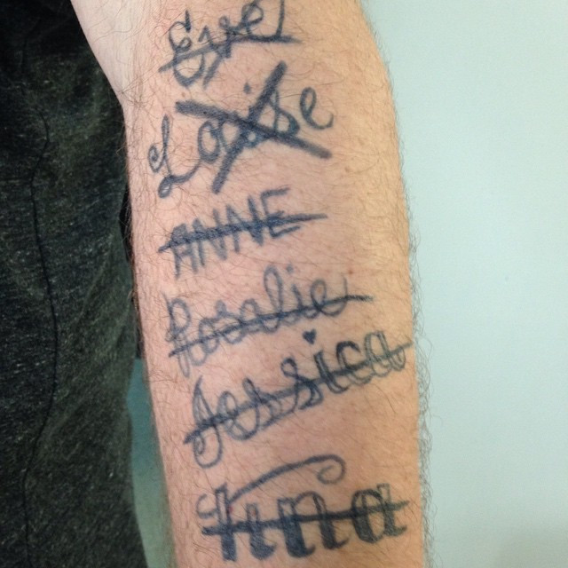 Faux tatouages de ''biker'' fait à la main. ce ne sont pas des décalques.