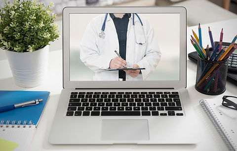 Telemedicine appointment screen