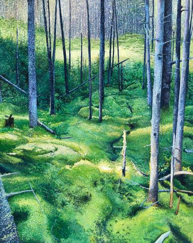 """Little Ridge, oil on canvas, 60"""" x 48"""","""