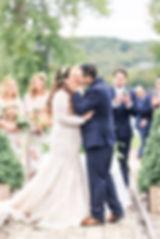 Elberta Micigan Wedding Day. First Kiss