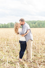 Fun engagement session at a private farm in Romeo Michigan
