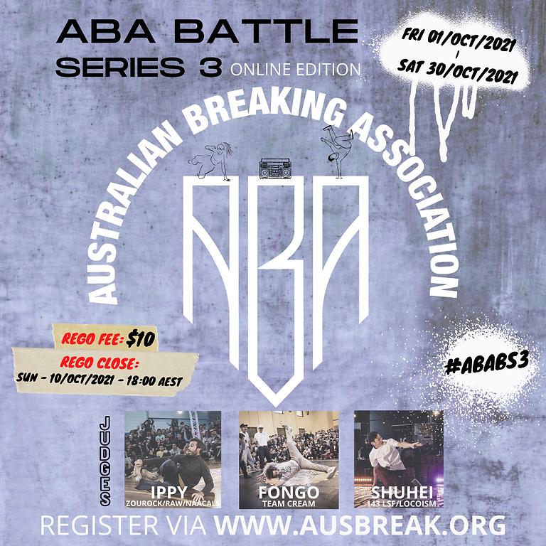 "ABA Battle Series ""3"" Online Edition"